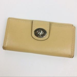 Coach Turnlock Leather Full Size wallet